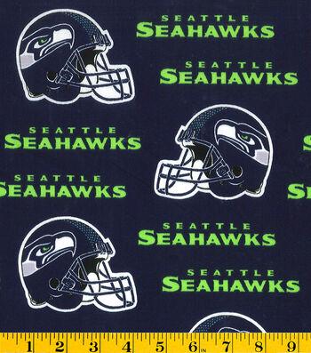 "Seattle Seahawks Cotton Fabric 58""-Helmet Logo"