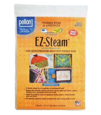 "Pellon 5 pk 12"" x 9"" EZ-Steam Fusible Web Sheets"