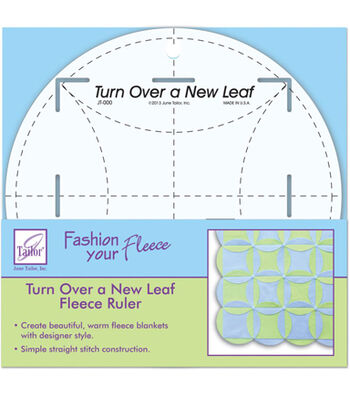 "June Tailor® Turn Over A New Leaf Fleece Ruler-8"" Round"