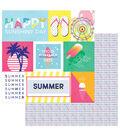 Photoplay Paper Those Summer Days 12\u0027\u0027x12\u0027\u0027 Cardstock-Chill Out