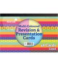 Silvine 48 pk 6\u0027\u0027x4\u0027\u0027 Revision & Presentation Cards-Multicolored Lined