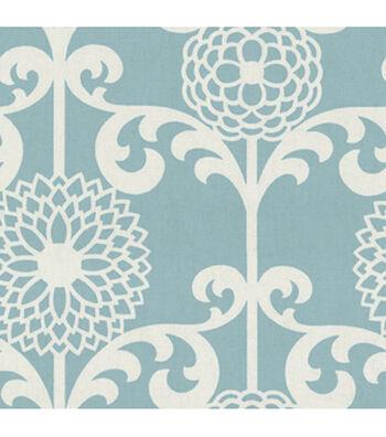 "Waverly Upholstery Fabric 54""-Fun Floret  Spa"