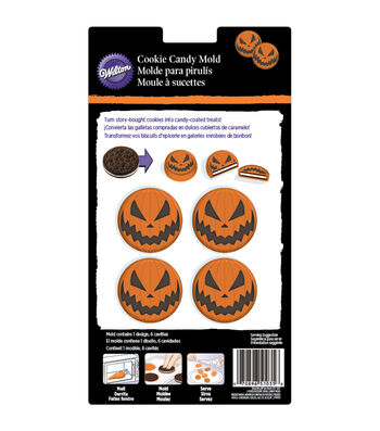 Wilton® Cookie Candy Mold-6 Cavity Jack O'lantern