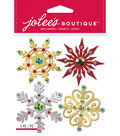Jolee\u0027s Boutique Dimensional Stickers-Metallic Snowflakes