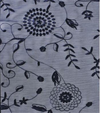 Silky Print Fabric 58''-Blue