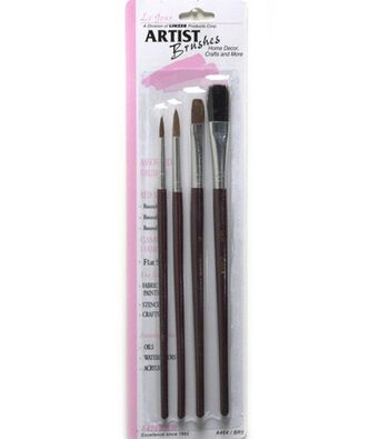Le Jour Red Sable & White Camel Brushes-Set of 4