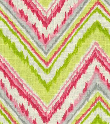 "Waverly Upholstery Fabric 54""-Chevron Charade/Petal"