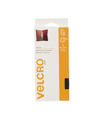VELCRO Brand  Iron On 5ft x 3/4in tape. black.