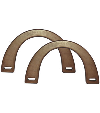 Bag Works Purse/Tote Handle-Medium Brown Wood
