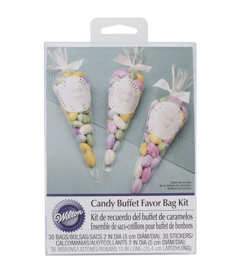 Cello Bags 30/Pkg-Candy Buffet