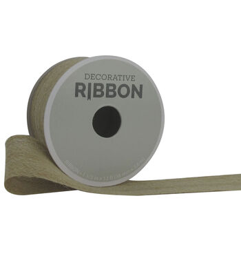 "Decorative Ribbon 1.5"" Burlap Ribbon-Natural"