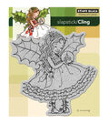 Penny Black Cling Rubber Stamp 5\u0022X6\u0022-Fairy Holly