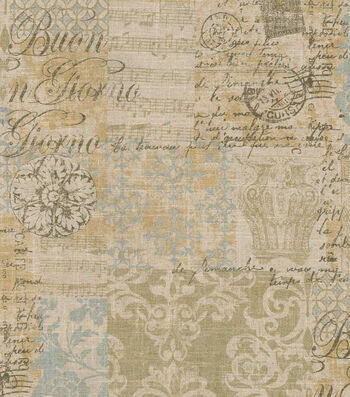 """Waverly Upholstery Fabric 54""""-Documented Vermeil"""