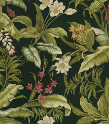 "Waverly Sun N Shade Upholstery Fabric 54""-Wailea Coasts Ebony"
