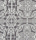Anti-Pill Fleece Fabric 57\u0022-Gray White Tiled Print