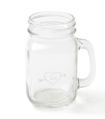 Save The Date Glass Mason Jar Mug-Rustic Love