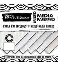 Brutus Monroe 18 sheet 6\u0027\u0027x6\u0027\u0027 Mixed Media Single-Sided Paper Pad