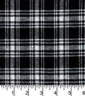 Flannel Shirting Fabric 41\u0022-Small Black White