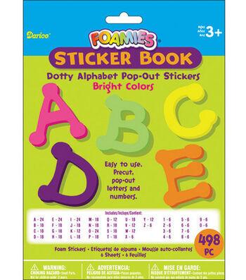 Darice Foamies Alphabet Sticker Book-498PK/Brights