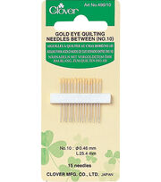 Clover® Gold Eye Quilting Needle, , hi-res