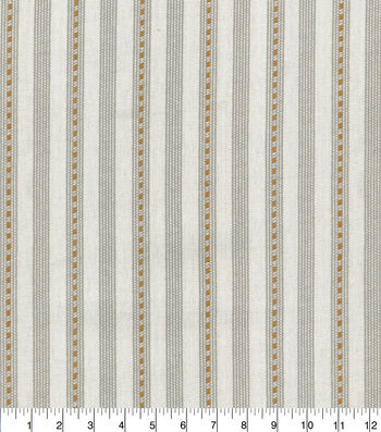 ED Ellen Degeneres Upholstery Fabric 54''-Cognac Ticking Stripe