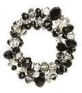 Coil Bracelet Jet Crystal