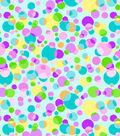 Tutti Fruitti Embellished Basic Fabric 44\u0027\u0027-Free Dots on Aqua