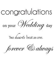 """Mini Clear Stamps 3""""X5""""-Wedding Words, , hi-res"""