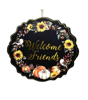 Fall Into Color Chalkboard Welcome Friends Wall Decor