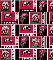 """Ohio State University Buckeyes Cotton Fabric 43""""-Herringbone Block, , hi-res"""
