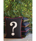 Square By Design-Question Mark 25\u0022 Woven Square