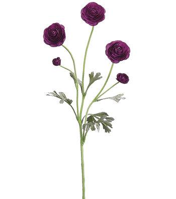 """Bloom Room 28"""" Ranunculus Spray-Purple"""