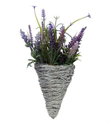 Fresh Picked Spring Lavender in White Cone-Purple