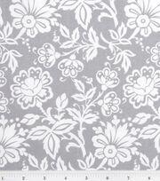 "Keepsake Calico™ Cotton Fabric 43""-Kimberly Small Floral Gray, , hi-res"