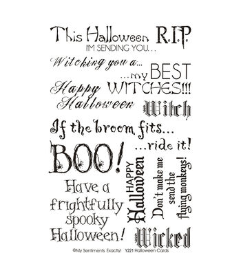 """My Sentiments Exactly Clear Stamps 4""""X6"""" Sheet-Halloween"""