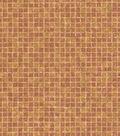 Orange Mosaic Tile Wallcovering