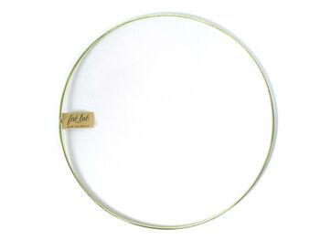 """Darice 14"""" Metal Macrame Ring-Gold"""