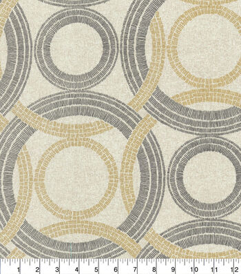 Waverly Outdoor Print Fabric 54''-Onyx Radiant Rings