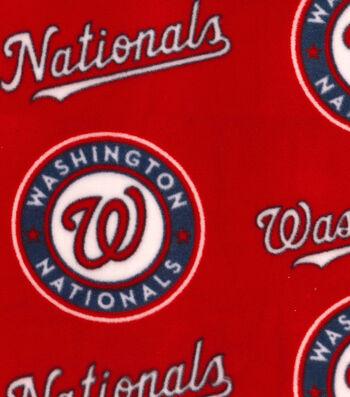 "Washington Nationals Fleece Fabric 58""-Logo"