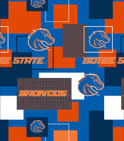 Boise State University Broncos Cotton Fabric 43''-Modern Block, , hi-res
