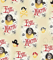 Minions Pirates Cotton Fabric 44''-Beige, , hi-res