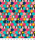 Minion Flannel Fabric 42\u0022-Packed Puffy Circles