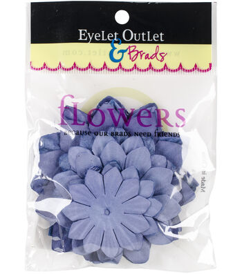 Eyelet Outlet 40ct Paper Flowers