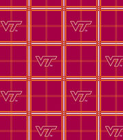 "Virginia Tech Hokies Flannel Fabric 42""-Plaid, , hi-res"