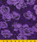 Gertie Collection Fabrics-Rayon Spandex Knit Floral Purple