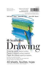 "Strathmore Drawing Paper 200 Series, 5.5"" x 8.5"", , hi-res"