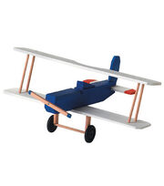 Darice Wood Model Kit-Biplane, , hi-res
