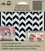 FolkArt® Painting Stencils - Small - Petite Chevron, , hi-res