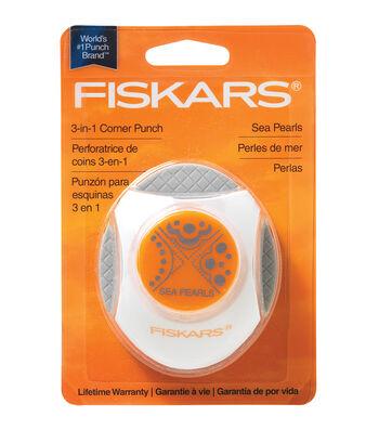 Fiskars 3-In-1 Corner Punch-Sea Pearls