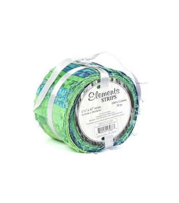 """Jelly Roll Cotton Fabric 2.5""""-Blue/Green"""